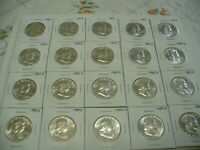 LOT OF 20  USA  HALF DOLLAR SILVER COINS  50 CENT PIECES  1963  NO JUNK   LOT B