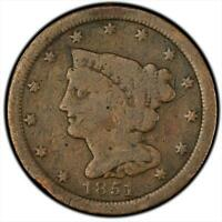 BRAIDED HAIR HALF CENT   GOOD TO FINE   RAW   ALL YEARS AND MINTS