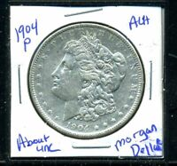 1904 P AU MORGAN DOLLAR 90 SILVER COIN ABOUT UNCIRCULATED COMBINE SHIP$1 C3492