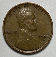 1942 D LINCOLN - WHEAT EARS REVERSE 1 CENT  WWII ERA CIRCULATED COIN  2965