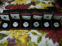 LOT OF 6  2011 2016  RCM CANADA 10$ FINE SILVER COIN  ALL 1/2 OUNCE SILVER