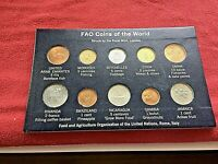 1970S FAO FOOD AGRICULTURE ORGANIZATION COIN COLLECTION UNITED NATIONS TEN COINS