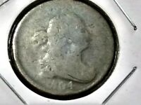 1804 HALF CENT CROSSLET FOUR STEMLESS  EARLY DATE LOW MINTAGE 1,055,312