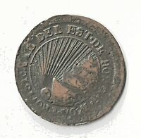 HIGH END CONDITION CENSUS HONDURAS 4 REALES 1854 COPPER PROVINCIAL