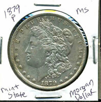 1879 P BU MORGAN DOLLAR UNCIRCULATED SILVER MINT STATE COMBINE SHIP$1 COINWC902