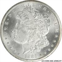 1885-CC MORGAN SILVER DOLLAR GEM BU FROSTY SATIN WHITE
