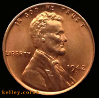 1942-D LINCOLN WHEAT RED-BROWN CENT BU