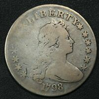 1798 DRAPED BUST SILVER DOLLAR   CLEANED
