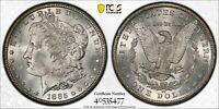 1885 CC SILVER MORGAN DOLLAR $1 GEM UNC CARSON CITY PCGS MINT STATE 64 GOLD SHIELD