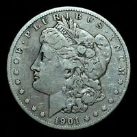 1901-S $1 MORGAN SILVER DOLLAR  VF  FINE DETAILS   NOW TRUSTED