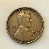 1927 LINCOLN CENT. SHARP EXAMPLE. YOUR ACTUAL COIN IN PHOTO