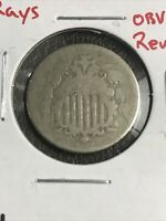 1867 5C SHIELD NICKEL NO RAYS