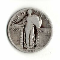 1930 STANDING LIBERTY SILVER QUARTER NO STOCK PHOTO-ACTUAL COIN PICTURED 9773