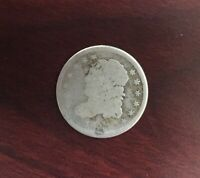 1837 US CAPPED BUST HALF DIME 5 CENTS SILVER COIN