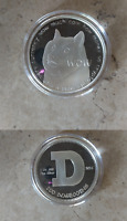 OFFICIAL 2014 SHIBE MINT DOGECOIN PHYSICAL BIT COIN 1 OZ SILVER EDITION WITH COA
