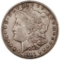 1902-S $1 SILVER MORGAN DOLLAR IN AU CONDITION,  LUSTER, SOME TONING