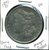 1891 O VF MORGAN DOLLAR  FINE 90 SILVER COIN U.S  COMBINE SHIP $1WC862