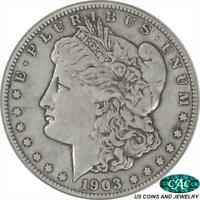 1903-S  MORGAN SILVER DOLLAR MICRO S PCGS AND CAC EXTRA FINE 40 LOW POPULATION DIE VARIE