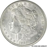 1889-S MORGAN SILVER DOLLAR CHOICE AU SUPER SLIDER FROSTY WHITE