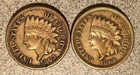 1862 1863 INDIAN HEAD CENT LOT
