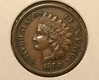 1880 INDIAN HEAD CENT  SNOW 8 EARRING VARIETY