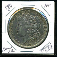 1891 O AU MORGAN DOLLAR 90 SILVER COIN ABOUT UNCIRCULATED COMBINE SHIP$1 C1721