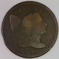 1795 LIBERTY CAP LARGE CENT  FINE DETAILS U.S. PENNY CAPPED LIBERTY ONE 1