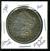 1880 P AU MORGAN DOLLAR 90 SILVER ABOUT UNCIRCULATED COMBINE SHIP$1 COINWC1550