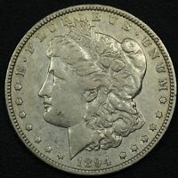 1894 MORGAN SILVER DOLLAR - CLEANED