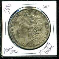 1880 P AU MORGAN DOLLAR 90 SILVER ABOUT UNCIRCULATED COMBINE SHIP$1 COINWC1553