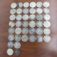 40 PC LOT MORGAN SILVER ONE DOLLAR $1 COINS OLD USED CIRCULA
