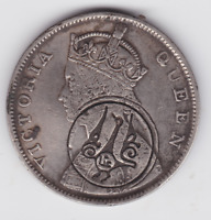 BRITISH INDIA  SILVER 1 RUPEE  1840 COUNTER MARKED IN ARABIC