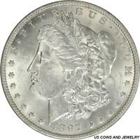 1897-O MORGAN SILVER DOLLAR SELECT UNCIRCULATED FROSTY WHITE