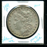 1881 P AU MORGAN DOLLAR 90 SILVER COIN ABOUT UNCIRCULATED COMBINE SHIP$1 C3042