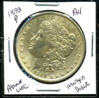 1888 P AU MORGAN DOLLAR 90 SILVER COIN ABOUT UNCIRCULATED COMBINE SHIP$1 C1155