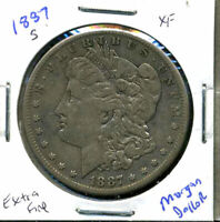 1887 S EXTRA FINE  MORGAN DOLLAR 90 SILVER EXTRA FINE U.S.A COMBINE SHIP$1 COIN WC869