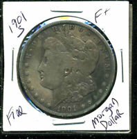 1901 S F MORGAN DOLLAR  FINE 90SILVER COIN U.S  OLD $1 AUCTION WC1559