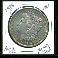 1888 P AU MORGAN DOLLAR 90 SILVER COIN ABOUT UNCIRCULATED COMBINE SHIP$1 C3059