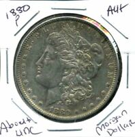 1880 P AU MORGAN DOLLAR 90 SILVER ABOUT UNCIRCULATED COMBINE SHIP$1 COINWC3532
