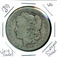 1891 O VG MORGAN DOLLAR 90SILVER  GOOD U.S.A COMBINE SHIPPING$1 COIN C3536