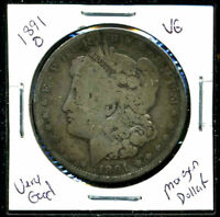 1891 O VG MORGAN DOLLAR 90SILVER  GOOD U.S.A COMBINE SHIPPING$1 COIN C1086