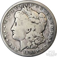 1893 CC MORGAN $1 SILVER DOLLAR US COIN KEY DATE 21093