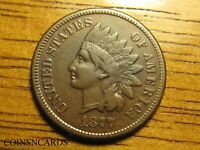 1877 1C INDIAN HEAD CENT BETTER GRADE KEY TO SERIES VERY FIN
