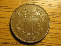 1865 2C TWO CENT PIECE LUSTROUS TONED SECOND YEAR UNCIRCULAT