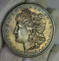 1892 CC $1 MORGAN SILVER DOLLAR   RARE COIN   TONED    NO RE