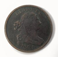 1804 US DRAPED BUST HALF CENT COPPER NO STEM PLAIN 4
