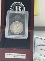 1878 EIGHT TAIL FEATHER ERROR MORGAN SILVER DOLLAR VG IN HOLDER AND BOX