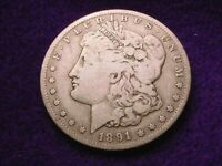 1891-O MORGAN DOLLAR GREAT KEY DATE DOLLAR--NO RESERVE  1083