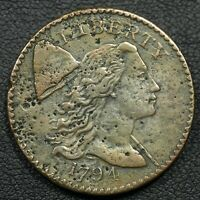 1794 LIBERTY CAP FLOWING HAIR COPPER LARGE CENT   ENVIRONMEN