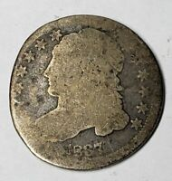 1837 CAPPED BUST SILVER DIME  DATE